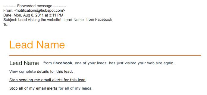 lead notification