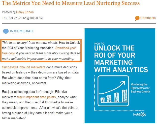 lead nurturing ebook