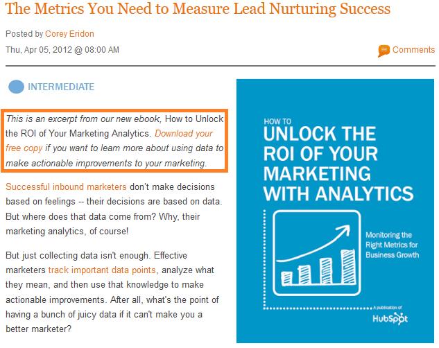 lead nurturing ebook