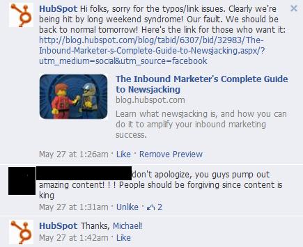 lego facebook mistake