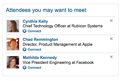 linkedin events networking recommendations