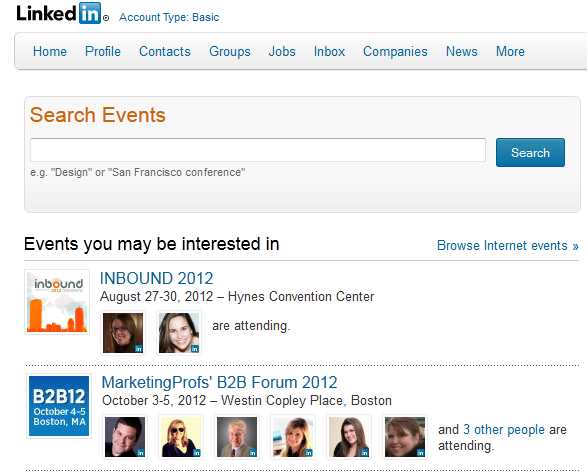 linkedin events