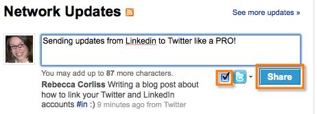 Send Linkedin To Twitter