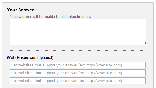 LinkedIn Answers Web Resources
