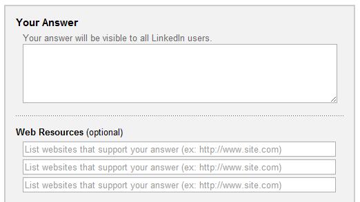 LinkedIn Answers Web Resources
