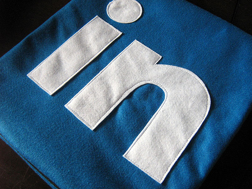 linkedin logo fabric