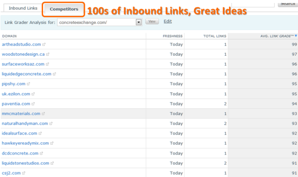 Competitor with Many Inbound Links