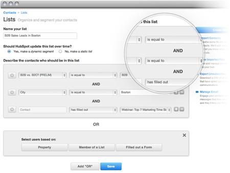 hubspot list creation tool