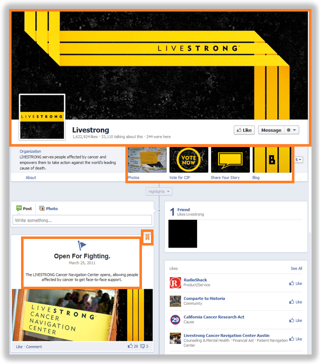 livestrong facebook page