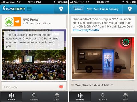 local updates foursquare