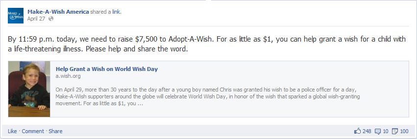 make a wish foundation fb