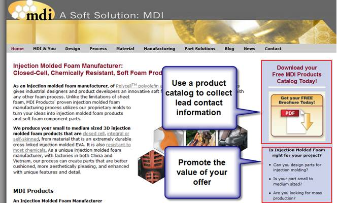 Manufacturing Call to Action Example 2