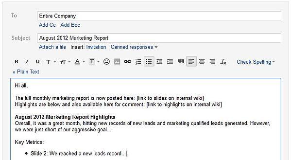 marketing report highlights