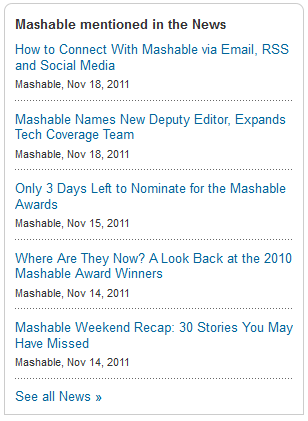 mashable news
