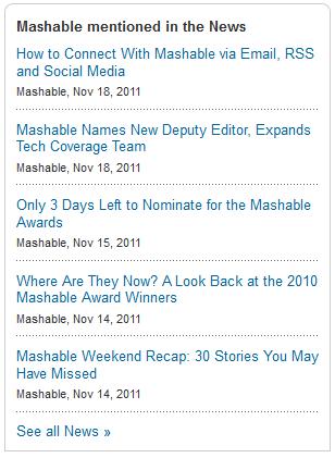 mashable news