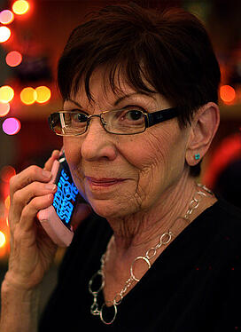 mom on cell phone