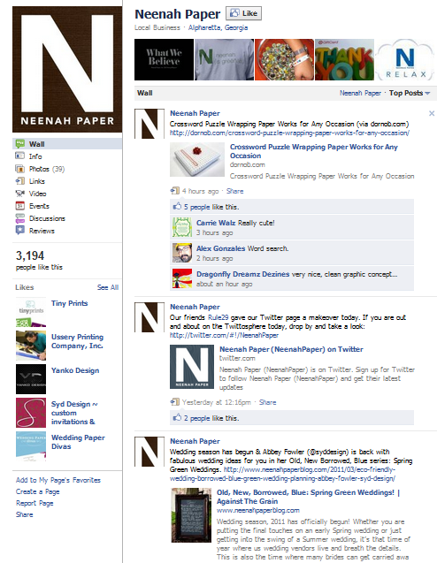 neenah paper facebook fan page