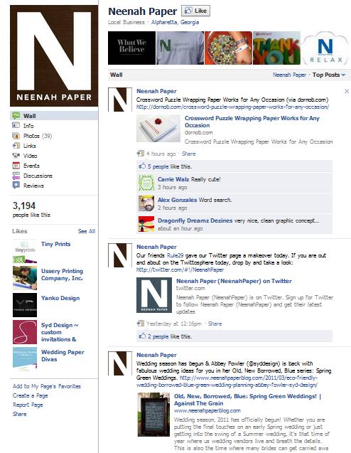 neenah paper facebook fan page