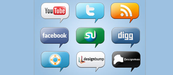 networking bookmark icon set