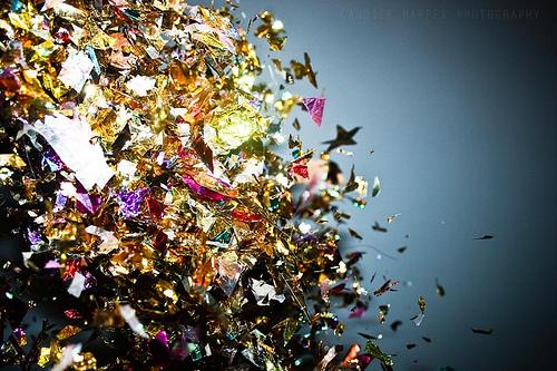 new year confetti