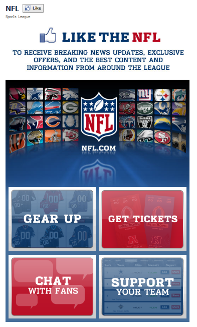NFL Facebook Fan Page