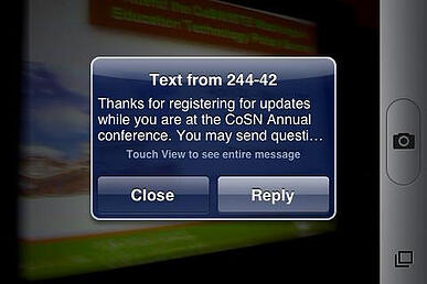 Opt in mobile marketing via an SMS text message