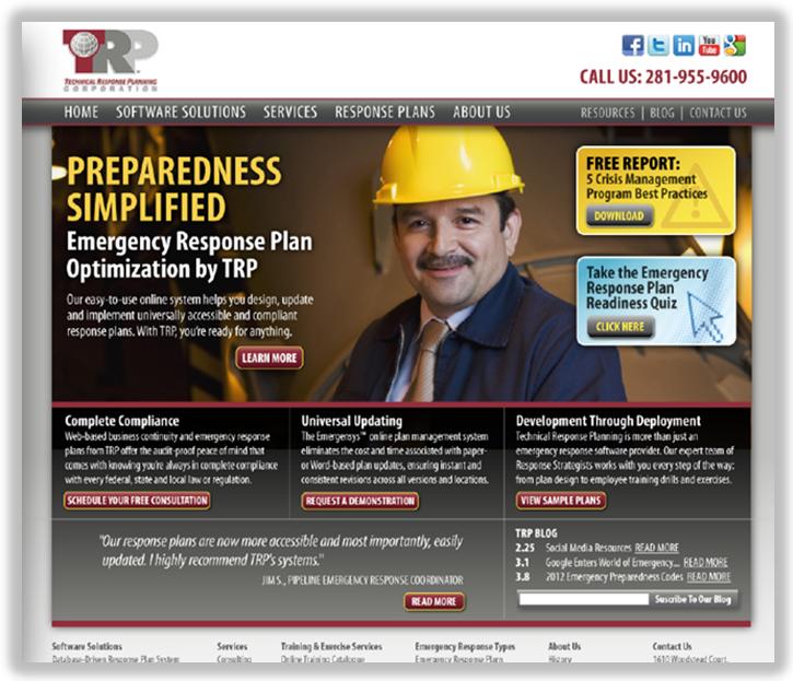 optimized homepage