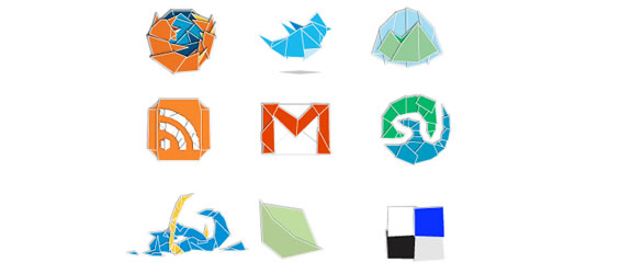 origami icon set