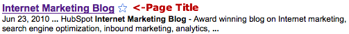 page title hubspot blog
