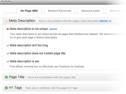 Pages Report Screenshot of SEO errors
