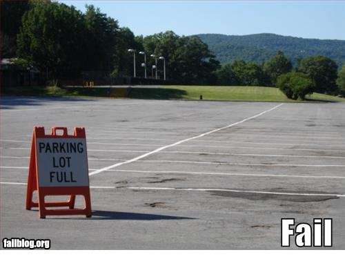 parking lot fail