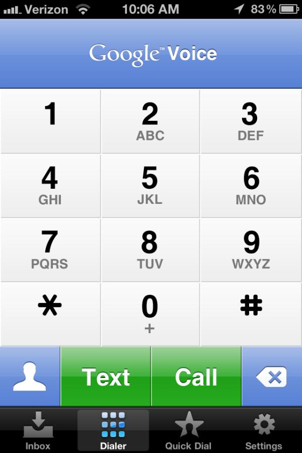 google voice, mobile