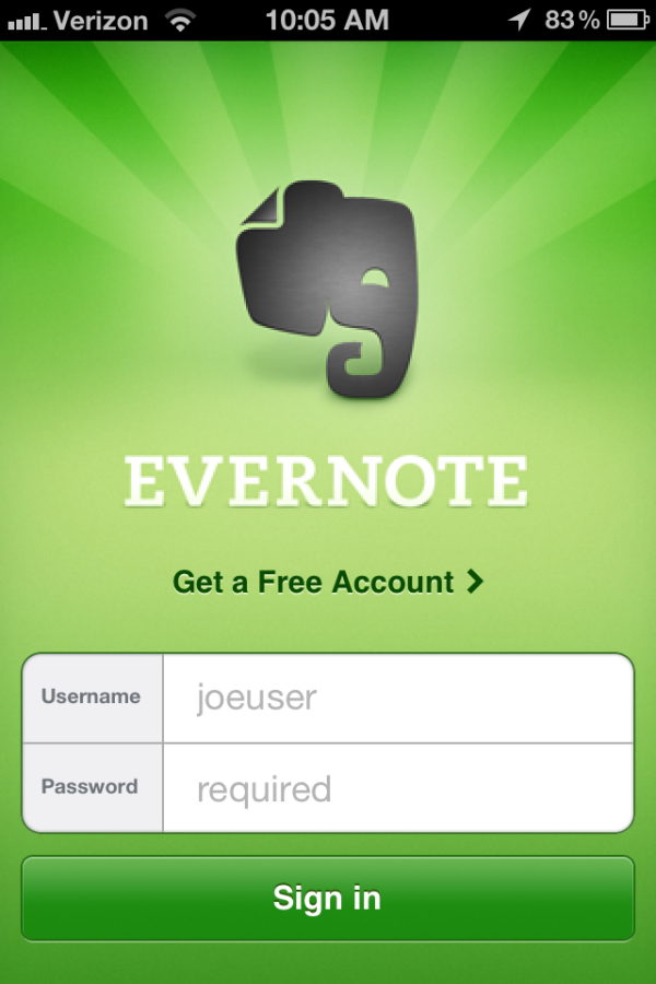 evernote, mobile