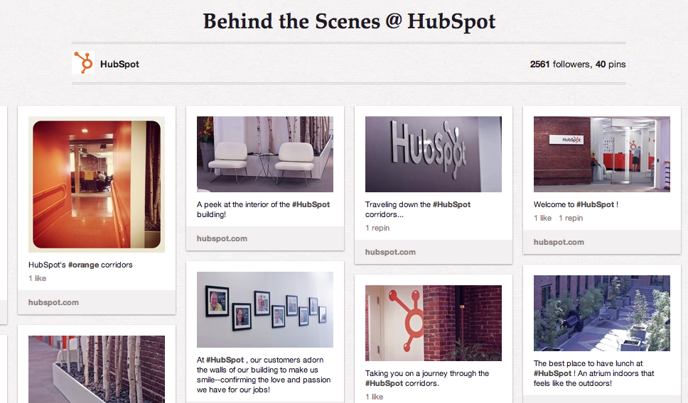 HubSpot on Pinterest