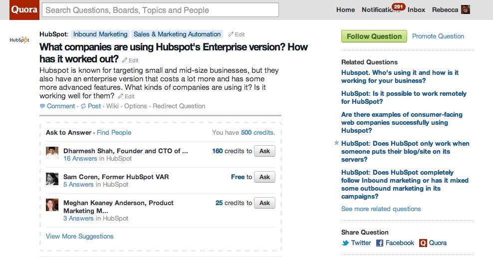 HubSpot on Quora
