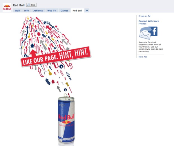 Red Bull Facebook Fan Page