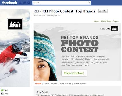 rei facebook contest