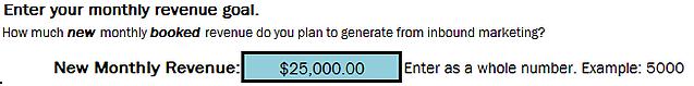 revenue goal