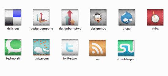 rivet social icon set
