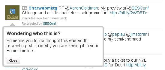 Twitter Retweet Example