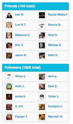 Foursquare friends VS followers