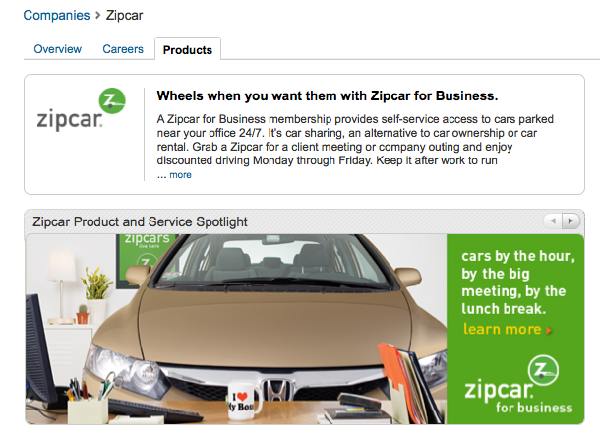 Zipcar LinkedIn Banner