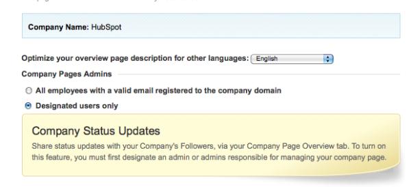 LinkedIn Add Admins