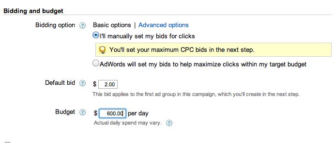 adwords bidding