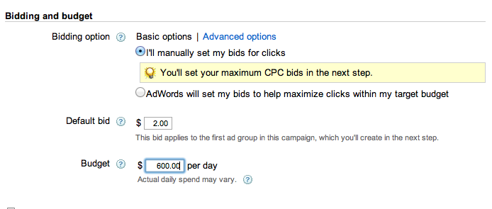 adwords bidding