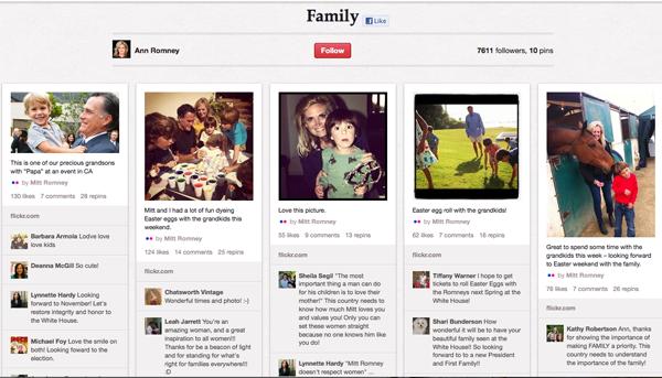 Ann Romney's Pinterest