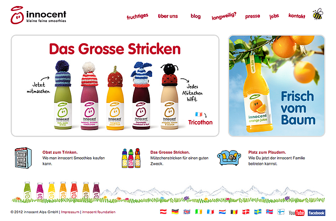 European global marketing strategy by Innocent Drinks