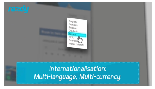 Video by Rezdy showing language selection for global users