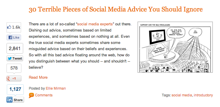 30 Terrible Pieces of Social Media Advice You Should Ignore