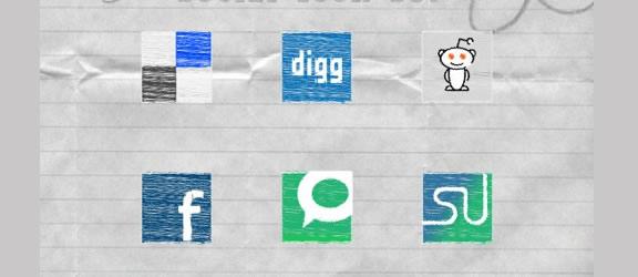 scribble icon set